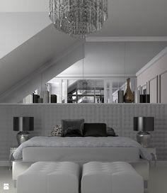 Sypialnia na poddaszu - zdjęcie od gabriella-bober - Sypialnia - Styl Glamour - gabriella-bober