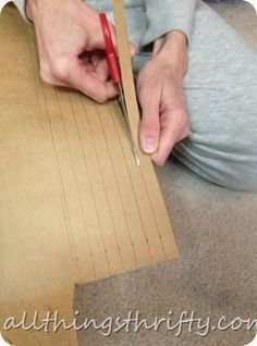 """Upholstering tips - how to make your own cardboard tack strips - this was a sort of """"Why did I never think of that"""" kind of thing for me :)"""
