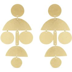 ANNIE COSTELLO BROWN Pompom long stud earrings (13.585 RUB) ❤ liked on Polyvore featuring jewelry, earrings, annie costello brown earrings, gold tone jewelry, pom pom stud earrings, long jewelry and long earrings