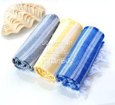 Fouta Hammam Towel SET of 3  Turkish Bath by DowntownIstanbul, $31.99