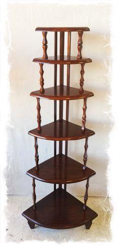 Antique Mahogany Corner Whatnot Shelf Display Unit $85