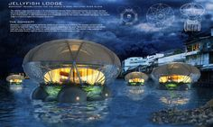 "This floating ""jellyfish"" lodge grows food, purifies the air, and treats polluted waterways."