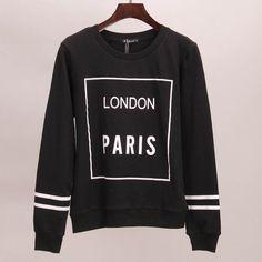 printed hoodie tracksuits autumn winter long tees women woman
