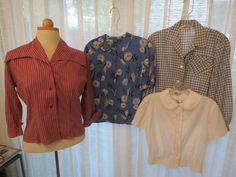 MORE 1940's & '50's TRUE VINTAGE SHIRTS & BLOUSES FOR EDGING INTO FALL