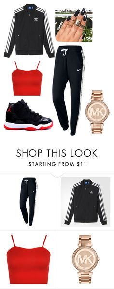"""Untitled #6"" by dymin0403 ❤ liked on Polyvore featuring NIKE, adidas, WearAll and Michael Kors"