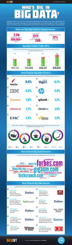 Who's Big in Big Data?(Infographic)