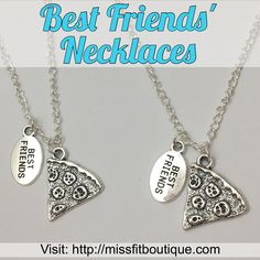 Stand-out with these 'best friends' who share a love for pizza' necklaces! Wearable Art, Dog Tag Necklace, Best Gifts, Best Friends, Fitness Motivation, Pendant Necklace, Instagram Posts, Silver, Motivational