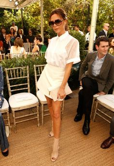 Victoria Beckham at the 2013 Vogue/CFDA Fashion Fund Fashion Show at the Chateau Marmont