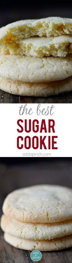 The Best Sugar Cookie Recipe - Sugar cookies make a favorite little cookie recipe for so many. Get this family-favorite recipe for chewy sugar cookies that everyone is sure to love. // addapinch.com