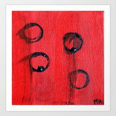 Four Art Print by Melina Martín  - $17.00