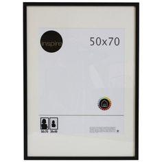 Cadre Lario, 50 x 70 cm, noir-noir n°0 (Solstafir)