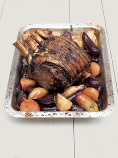 This fore rib cut of beef makes the perfect roast. Even if there are fewer than ten of you it's still worth cooking the whole joint and enjoying the leftovers. Beef and beetroot work so well together. When buying beetroot, try and get hold of some differe