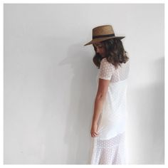 """""""Summer Dots 〰 Em wears the new @thefifthlabel Tell The Story Dress with @66thelabel Hat • SHOP LINK IN PROFILE •  #summer #staffpick #newstock #polkadot…"""""""