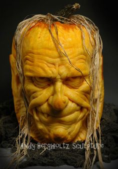 Pumpkin Art: Ray Villafane allows us to bring you these awesome pumpkin carvings to help inspire when you break out the knife for this year's Halloween. Easy Pumpkin Carving, Awesome Pumpkin Carvings, Pumpkin Art, Pumpkin Faces, Creepy Pumpkin, Pumpkin Head, Funny Pumpkins, Halloween Pumpkins, Halloween Crafts