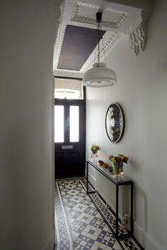 Fabulous Hallway Decor Ideas For hallway ideas ideas small ideas entrance hallway ideas hallway decorating halls Hall Tiles, Tiled Hallway, Hallway Flooring, White Hallway, Hallway Shelf, Upstairs Hallway, Flur Design, Hallway Inspiration, Small Hallways