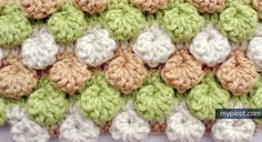 MyPicot | Free crochet patterns. Bobble shell stitch. Full tutorial on how to do. LOVE this site for new stitches ~!~