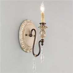 Vintage Italian Style Wall Sconce 1 Light