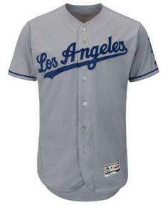 Majestic Men's Los Angeles Dodgers Flexbase On-Field Jersey - Gray 48