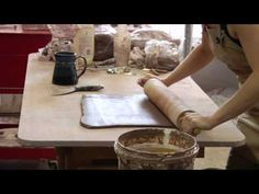 Clay Pottery Slab Building : Rolling Pin Tips for Clay Pottery - YouTube