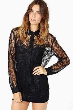 cheap monday barlow lace blouse.