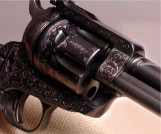 Ruger Blackhawk .357 Magnum.  By Otto Carter- a Master Engraver.