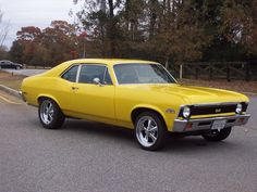 1972 Chevy Nova With A Beautifully Done Resto-Mod Job, Except I Personally Would Have Lowered The Front End To Give It, instead of the 4×4 look, A More Raked Stance.