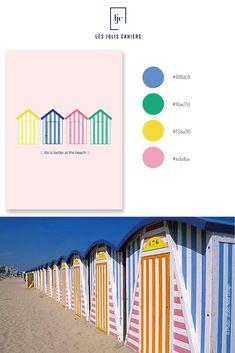 Créez votre cahier personnalisé à partir de jolies nuances qui suivent les tendances de la mode et de la déco. #nuancier #palette #inspiration #beach  #cabaneplage #plage #rose #vert #jaune #bleu #cahierpersonnalise #jolicahier #papeterie #ecriture #lesjoliscahiers Rose Vert, Notes Design, Le Jolie, Made In France, Life Is Good, Bar Chart, Palette, Good Things, Beach