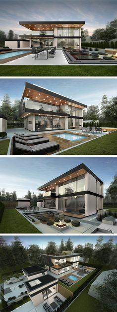 221 best modern villa design images modern homes residential rh pinterest com