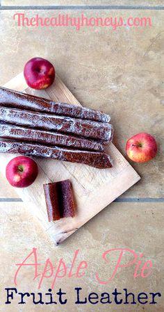 Apple Pie Fruit Leather - The Healthy Honeys #recipe #snack