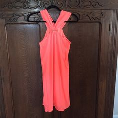 Selling this NWT Neon Coral Dress in my Poshmark closet! My username is: dupske26. #shopmycloset #poshmark #fashion #shopping #style #forsale #Boutique #Dresses