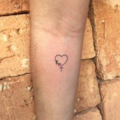 Delicate Cross Tattoo Women 30 Ideas tattoo feminina Pretty In Ink Dream Tattoos, Mom Tattoos, Friend Tattoos, Body Art Tattoos, Tatoos, Wrist Tattoos Girls, Tattoo Motive, Tattoo Life, Tattoo Music