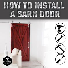 Rustica makes it easy to install your barn door.  We have a detailed list of all our products.  Each installation sheet features sketches of how to install your door with simplicity and ease.  qoo.ly/kd8zr #Easyas123 #barndoors