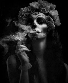 Smoking Sugar Skull
