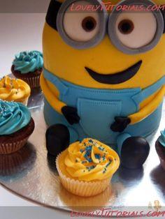 Minion cake step by step