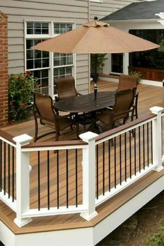 There are lots of pergola designs for you to choose from. You can choose the design based on various factors. First of all you have to decide where you are going to have your pergola and how much shade you want. Deck Railings, Railing Ideas, Hand Railing, Deck Railing Design, Balcony Railing, Deck Skirting, White Deck, Black Deck, White Cedar
