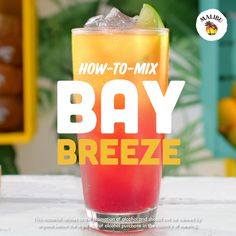Malibu Bay Breeze Vacation feels in the form of a stunning summer drink! The Malibu Bay Breeze is a classic cocktail with tropical flavors and colorful layers. Plus, this easy drink recipe can be made in a big batch for rooftop parties or stirred together Best Non Alcoholic Drinks, Liquor Drinks, Cocktail Drinks, Alcoholic Shots, Rum Shots, Pudding Shots, Summer Cocktails, Bartender Drinks, Beverages