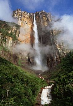 World's Tallest Waterfall: Angel Falls, Venezuela this is where the movie UP got its inspiration.