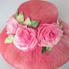 Vintage Pink Rose Millinery Hat