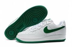 separation shoes d4823 06567 Mens Nike Air Force 1 25th Low Shoes White Green Reduced