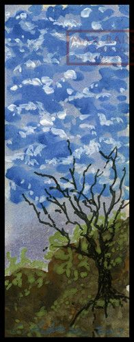 A Tree Made of Clouds Originial Watercolor Painting ACEO Impressionist Landscape | eBay