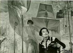 """I believe in magic which, ultimately, is merely the power to materialize the imagination in reality. Our super-mechanized age underestimates the attributes of the irrational imagination, which is still the basis of all discoveries."" #SalvadorDali . . . . . Image: Dali in front of The Discovery of America by Christopher Columbus. ©Meli Casals Image Rights of Salvador Dali reserved. Fundacio Gala-Salvador Dali, Figueres, 2016.©Meli Casals Image Rights of Salvador Dali reserved. Fundacio…"