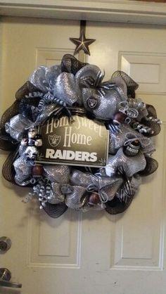 I love my new Oakland Raider wreath....