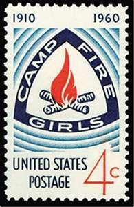 Campfire Girls Stamp