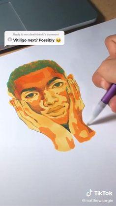 Illustration Art Drawing, Art Drawings Sketches, Arte Sketchbook, Cartoon Art Styles, Drawing Techniques, Art Tutorials, Art Inspo, Watercolor Art, Art Projects