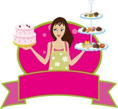 Bakery Baker Pastry Chef Girl Woman Diva Stock Vector - Illustration of goodies, attractive: 10415501 Bake Sale Poster, Baker Logo, Chef Logo, Cake Borders, Bakery Menu, Felt Templates, Bakery Logo Design, Cooking Cake, Best Cake Recipes