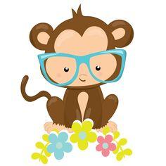 cute little monkey clipart set monkey decorating and clip art rh pinterest com cute monkey clipart black and white cute monkey face clipart
