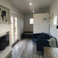 'The Intellectual' Tiny Home is a 40-foot container loaded with personality! This avant-garde shipping container home is currently available for sale in...