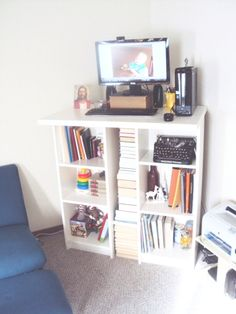Ikea Hack Standing Desk Two Billy Bookcases One Vika Amon Table Top