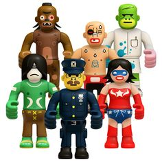 Kidrobot-Peecol Wave2 Set of 6-Fullofsun, Killa, NYOff, Volv, Roswell and WGirl  $9.98 (Currently Buy 2 get 1 Free!)
