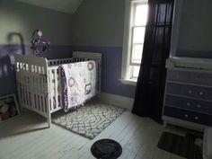 Purple nursery Cribs, Toddler Bed, Room Ideas, Nursery, Purple, Furniture, Home Decor, Cots, Child Bed